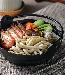 老板娘海鲜,乌龙戏凤,海鲜乌龙汤面